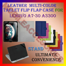 """ACM-LEATHER FLIP FLAP MULTI-COLOR 7"""" COVER & STAND for LENOVO A7-30 A3300 TABLET"""