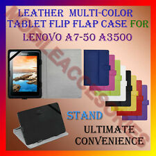 """ACM-LEATHER FLIP FLAP MULTI-COLOR 7"""" COVER & STAND for LENOVO A7-50 A3500 TABLET"""