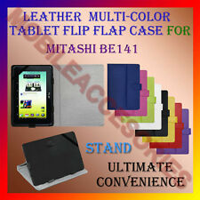 """ACM-LEATHER FLIP FLAP MULTI-COLOR 7"""" COVER & STAND for MITASHI BE141 TAB HOLDER"""