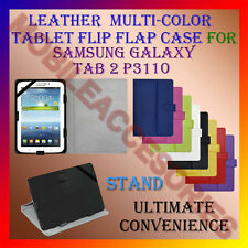 """ACM-LEATHER FLIP FLAP MULTI-COLOR 7"""" COVER & STAND for SAMSUNG TAB 2 P3110 TAB"""