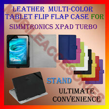 "ACM-LEATHER FLIP FLAP MULTI-COLOR 7"" COVER & STAND for SIMMTRONICS XPAD TURBO"