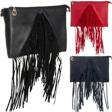 Ladies Tassel Shoulder Bag Fringe Messenger Bag Handbag Clutch Bag Purse K28790