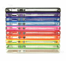 BUMPER COVER CUSTODIA PER APPLE IPHONE 4 4S SILICONE TRASPARENTE CASE TPU SLIM