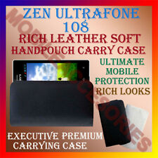 ACM-RICH LEATHER SOFT CASE for ZEN ULTRAFONE 108 MOBILE HANDPOUCH COVER HOLDER