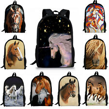 Cool Horse Animal Backpack Women Girls School Bag Rucksack Boys Satchel Travel