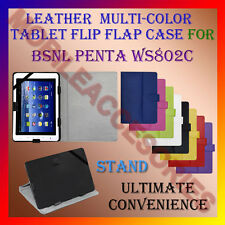 "ACM-LEATHER FLIP FLAP MULTI-COLOR 8"" COVER & STAND for BSNL PENTA WS802C TABLET"