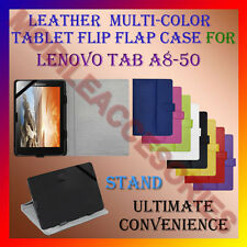 """ACM-LEATHER FLIP FLAP MULTI-COLOR 8"""" COVER & STAND for LENOVO TAB A8-50 TABLET"""