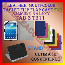 "ACM-LEATHER FLIP FLAP MULTI-COLOR 8"" COVER & STAND for SAMSUNG TAB 3 T311 CASE"