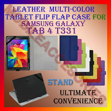 """ACM-LEATHER FLIP FLAP MULTI-COLOR 8"""" COVER & STAND for SAMSUNG TAB 4 T331 CASE"""
