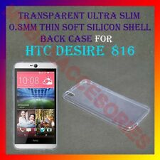 ACM-ULTRA SLIM 0.3MM TRANSPARENT SILICON for HTC DESIRE 816 / 816G BACK COVER