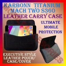 ACM-HORIZONTAL LEATHER CARRY CASE for KARBONN TITANIUM MACH TWO S360 POUCH COVER