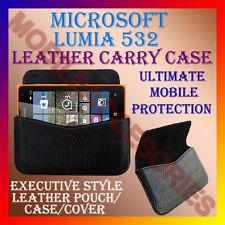 ACM-HORIZONTAL LEATHER CARRY CASE for MICROSOFT LUMIA 532 MOBILE POUCH COVER NEW