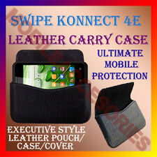 ACM-HORIZONTAL LEATHER CARRY CASE for SWIPE KONNECT 4E MOBILE POUCH COVER HOLDER