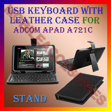 """ACM-USB KEYBOARD 7"""" CASE for ADCOM APAD A721C TABLET LEATHER COVER STAND HOLDER"""