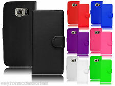 New Magnetic Wallet Flip Book Holder Leather Pu Case Cover For Samsung Galaxy S6