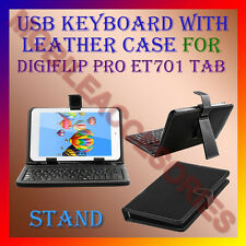 """ACM-USB KEYBOARD 7"""" CASE for DIGIFLIP PRO ET701 TABLET LEATHER COVER STAND NEW"""
