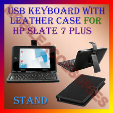 "ACM-USB KEYBOARD 7"" CASE for HP SLATE 7 PLUS TABLET LEATHER COVER STAND HOLDER"