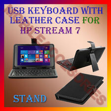 "ACM-USB KEYBOARD 7"" CASE for HP STREAM 7 TABLET LEATHER COVER STAND HOLDER NEW"