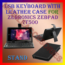 "ACM-USB KEYBOARD 7"" CASE for ZEBRONICS ZEBPAD 7T500 TABLET LEATHER COVER STAND"