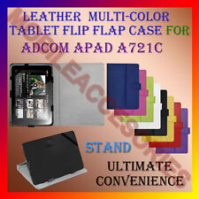"""ACM-LEATHER FLIP MULTI-COLOR 7"""" COVER CASE STAND for ADCOM APAD A721C TABLET TAB"""