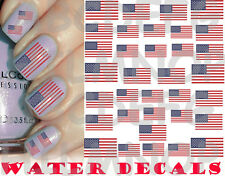 WATER DECALS BANDIERA USA FLAG AMERICA UNGHIE NAIL ART STICKERS ADESIVI TATTOO