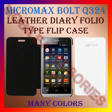 ACM-LEATHER DIARY FOLIO FLIP CASE for MICROMAX BOLT Q324 MOBILE FRONT BACK COVER