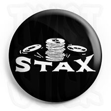 Stax Records Logo - 25mm Northern Soul Button Badge with Fridge Magnet Option