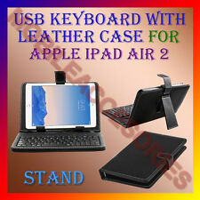 "ACM-USB KEYBOARD 10"" CASE for APPLE IPAD AIR 2 TABLET LEATHER COVER STAND HOLDER"