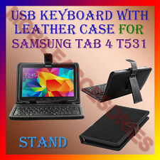 "ACM-USB KEYBOARD 10"" CASE for SAMSUNG TAB 4 T531 LEATHER COVER STAND TABLET FLIP"
