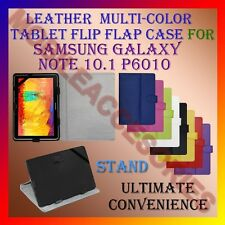 "ACM-LEATHER FLIP MULTI-COLOR 10"" COVER CASE STAND for SAMSUNG NOTE 10.1 P6010"