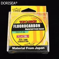 Top Fluorocarbon Leader Fishing Line 4.4LB-35.2LB Clear Freshwater & Saltwater