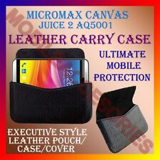 ACM-HORIZONTAL LEATHER CARRY CASE for MICROMAX CANVAS JUICE 2 AQ5001 COVER POUCH