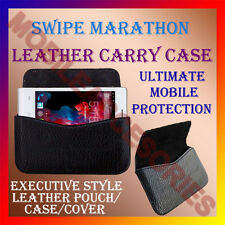 ACM-HORIZONTAL LEATHER CARRY CASE for SWIPE MARATHON MOBILE POUCH COVER HOLDER