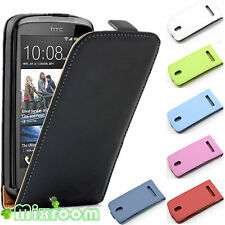 CUSTODIA COVER FLIP CASE IN ECOPELLE PER HTC DESIRE 500