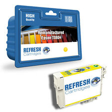 REMANUFACTURED (NON GENUINE) T0804 YELLOW INK CARTRIDGE FOR EPSON PRINTERS