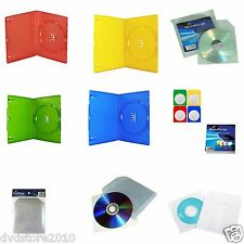 Custodia DVD CD Jewel Slim Case Box Bustine PVC Carta Colorate Finestra Custodia