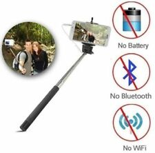 Extendabl Handheld Selfie Stick Wired Phone Holder Remote Shutter iPhone Android