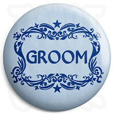 Groom - 25mm Wedding / Stag Button Badge with Fridge Magnet Option