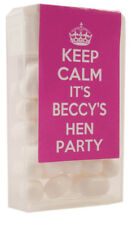 Personalised Tic Tac's Hen Do Hen Party Stickers Hen Weekend Hot Pink Keep Calm