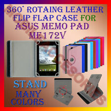 "ACM-ROTATING 360° LEATHER FLIP STAND COVER 7"" CASE for ASUS MEMO PAD ME172V TAB"