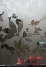 Decorative or Privacy Static Window Film ::: Clear Leaves :::