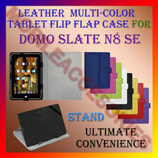 "ACM-LEATHER FLIP MULTI-COLOR 7"" COVER CASE STAND for DOMO SLATE N8 SE TABLET TAB"