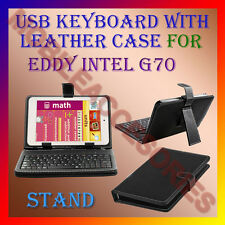 """ACM-USB KEYBOARD 7"""" CASE for EDDY INTEL G70 TABLET LEATHER COVER STAND HOLDER"""