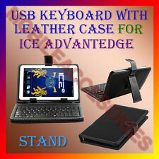 "ACM-USB KEYBOARD 7"" CASE for ICE ADVANTEDGE TABLET LEATHER COVER STAND HOLDER"