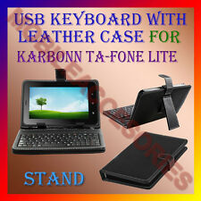 "ACM-USB KEYBOARD 7"" CASE for KARBONN TA-FONE LITE TABLET LEATHER COVER STAND NEW"