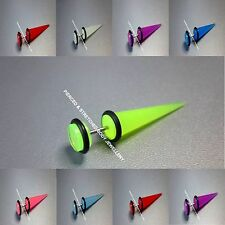 Fake UV Glow Stretchers Plugs Earrings Cheater Tapers 7 Colours available