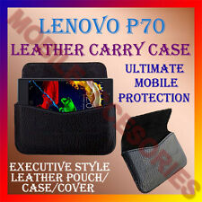 ACM-HORIZONTAL LEATHER CARRY CASE for LENOVO P70 MOBILE RICH COVER POUCH HOLDER