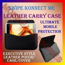 ACM-HORIZONTAL LEATHER CARRY CASE for SWIPE KONNECT ME MOBILE COVER POUCH HOLDER