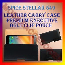 ACM-BELT CASE for SPICE STELLAR 549 MOBILE LEATHER POUCH COVER CLIP HOLDER NEW