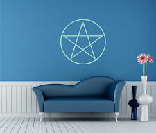 Wall Tattoo Pentagram Wall Stickers Pentacle Sticker White Hand Sticker Star
